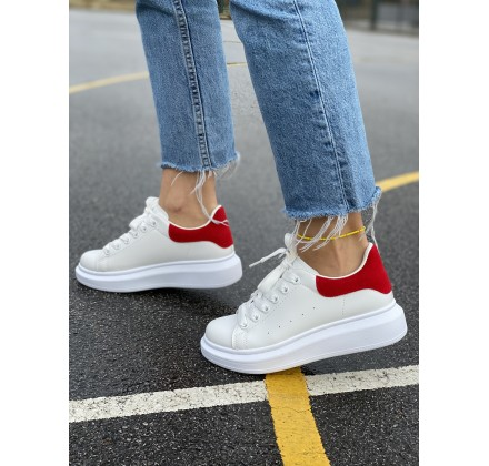 BFD011 WHITE/RED