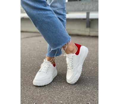 LAL001 WHITE/RED